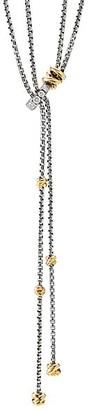 David Yurman Helena Y Necklace With 18K Yellow Gold & Diamonds