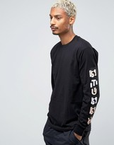 Stussy Long Sleeve T-shirt With Sleeve Print