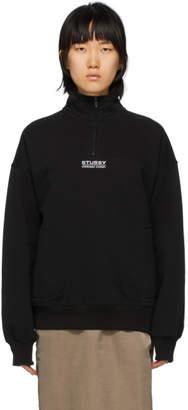 Stussy Black Logo Half-Zip Sweatshirt