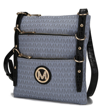 MKF Collection by Mia K. Women's Crossbodies Grey - Gray Venna Signature Crossbody Bag