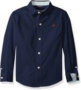 Nautica Little Boys' Solid Poplin Shirt