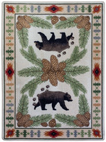 "Dakota American Camp Woodhaven OKA Natural Area Rug , 3'10""x5'4"""