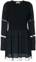 No.21 lace effect dress - women - Silk/Polyamide/Acetate/Virgin Wool - 38