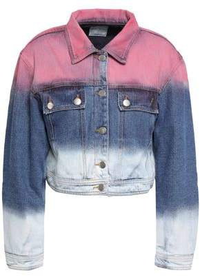 Each X Other Cropped Degrade Denim Jacket
