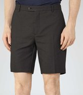 Reiss Reiss Empire - Fine Dot Shorts In Black, Mens
