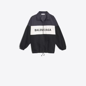 Balenciaga Nylon and denim Jacket with logo