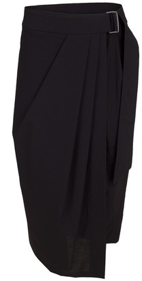 Brunello Cucinelli Belted Crinkle Pleated Wrap Skirt
