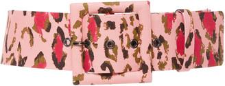Carolina Herrera Leopard-Print Cotton-Blend Belt
