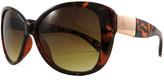 Kenneth Jay Lane Kjl By KJL by Women's Sunglasses DEMI - Brown Tortoise & Rose Gold Deco-Accent Oversize Cat-Eye Sunglasses