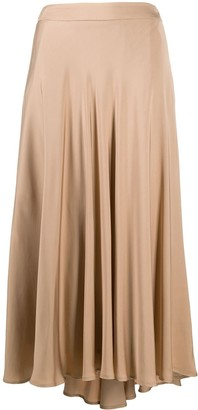 Peserico Asymmetric Draped Skirt