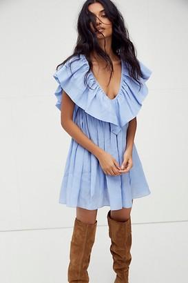 Free People Anna Ruffle Mini Dress