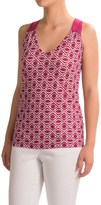 Specially made Rayon Blend Printed Tank Top - V-Neck (For Women)