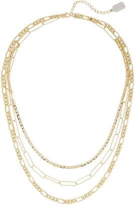 ela rae Triple Mixed Layer Chain Necklace