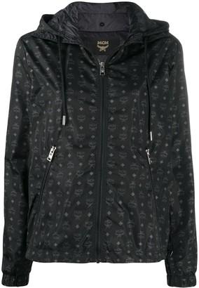 MCM Zip-Up Logo Hooded Jacket