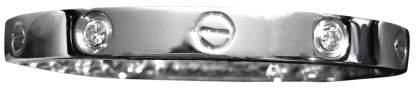 Cartier White Gold & 4- Diamonds Bracelet