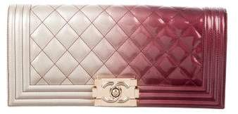 Chanel Quilted Ombré Boy Clutch