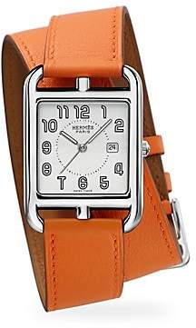 HERMÃS Women's Cape Cod 29MM Stainless Steel & Leather Double-Wrap Strap Watch