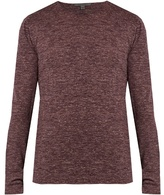 John Varvatos Wool And Linen-blend Jersey Top