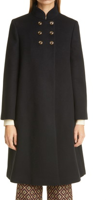 Gucci Wool Blend Military Cloth Coat