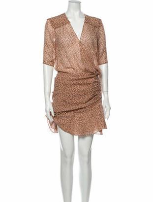 Veronica Beard Silk Mini Dress Orange