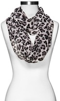 Xhilaration Women's Cheetah Print Infinty Scarf Gray