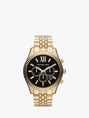 Michael Kors Men's Lexington Chronograph Date Bracelet Strap Watch