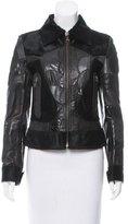 Dolce & Gabbana Fur Trim Leather Jacket w/ Tags