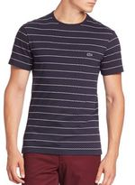 Lacoste Jacquard Striped Tee