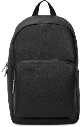 BOSS Crosstown black leather backpack