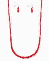 Charming charlie Graduated Beads Necklace Set
