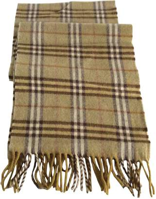 Burberry Green Wool Scarves & pocket squares