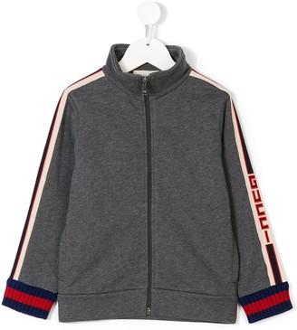 Gucci Kids logo stripe sweatshirt