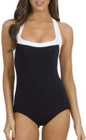 Jets Classique Square Neck Halter Boyleg One Piece