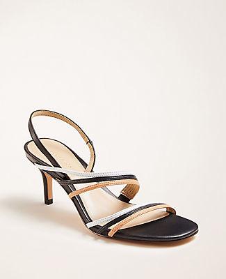 Ann Taylor Lyle Triple Strap Leather Sandals