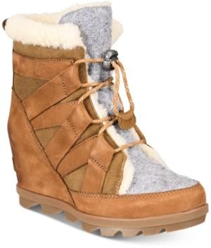 Sorel Women's Joan Of Arctic Wedge Cozy Booties Women's Shoes