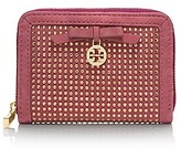 Tory Burch All-Over Crystal Zip Coin Case
