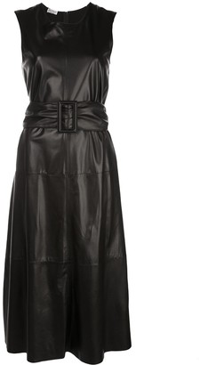 Brunello Cucinelli Textured Belted Waist Dress