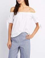 Charlotte Russe Tied Off-The-Shoulder Top