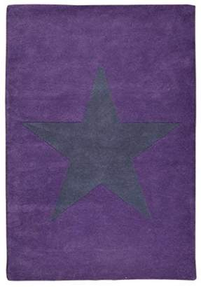 Lorena Canals Wool Rug Star (Aubergine/Dark Grey)