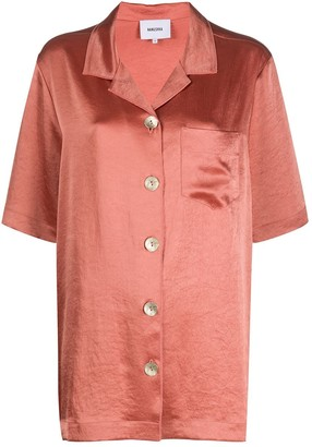 Nanushka Ella satin shirt