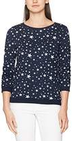 Tom Tailor Women's Star Sweat W/ Gathered Sleeve Sweatshirt