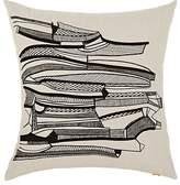Tom Dixon Geo Embroidered Cotton-Linen Pillow
