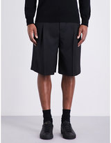 Givenchy Satin-striped Mid-rise Wool-blend Shorts