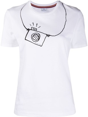Paul Smith camera print T-shirt