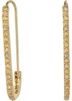 Rebecca Minkoff Pave Safety Pin Earrings Earring