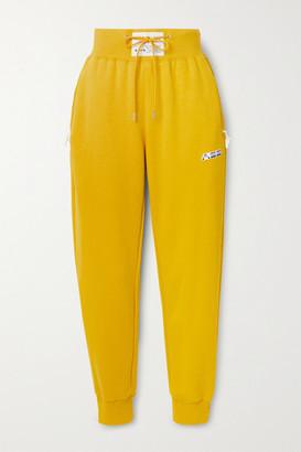 Adam Selman Sport Cotton-blend Jersey Track Pants - Mustard