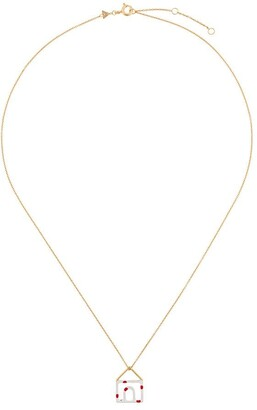 ALIITA 9kt yellow gold Casita Pois house necklace