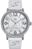 Go Women's 697763 white calfskin Band Watch.