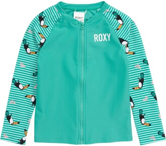 Roxy Toucan Print Long Sleeve Rashguard