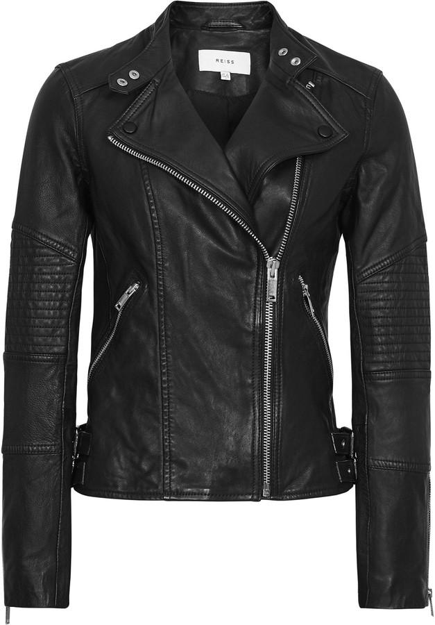 c31e12bb3 Tay - Leather Biker Jacket in Black